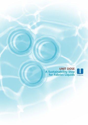 Unit Dose - A Sustainability Step for Fabrics Liquids - Unilever