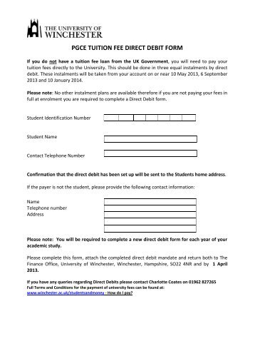 3 Month Direct Debit Renewal Form For All Exisiting 2012 Season
