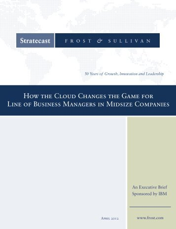 How the Cloud Changes the Game for Line of Business Managers in ...