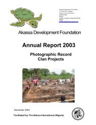 2003 Clan Photo Record (627kb pdf) - pro natura international ...
