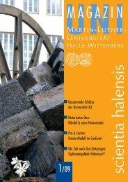 Uni-Magazin 1_2009.indd - Uni-Magazin der Martin Luther ...