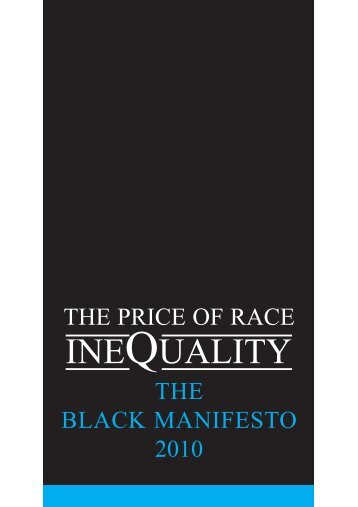 The Black Manifesto 2010 - One East Midlands