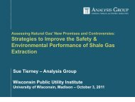 Sue Tierney: Strategies to Reduce Environmental Risk from Shale Gas