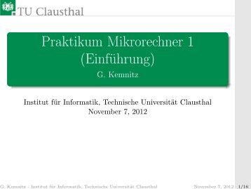 Einführung - Technische Universität Clausthal