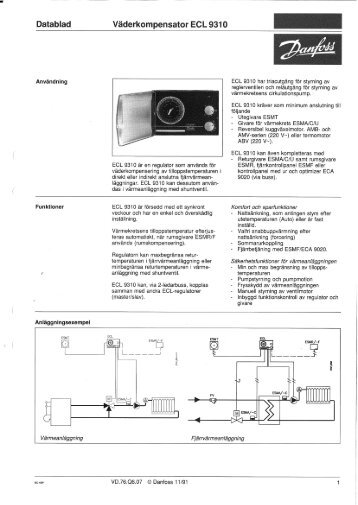 vaderkompensator magazines rh yumpu com  danfoss ecl 9600 pdf