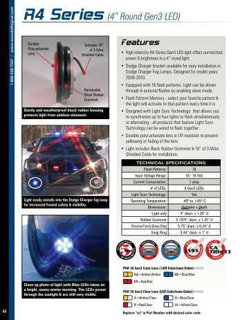 """Features R4 Series (4"""" Round Gen3 LED)"""