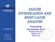 FAILURE INVESTIGATION AND ROOT CAUSE ANALYSIS