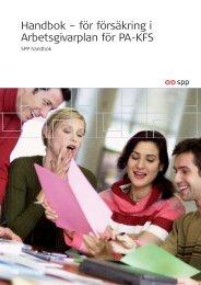 Handbok – för försäkring i Arbetsgivarplan för PA-KFS - SPP