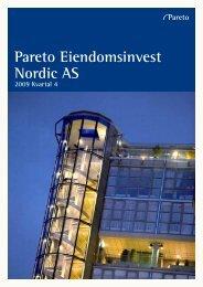 Pareto Eiendomsinvest Nordic AS - Pareto Project Finance