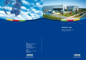 PRODUCT LINE - UNION Werkzeugmaschinen GmbH Chemnitz