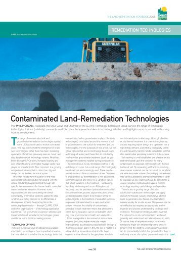 Get the whole article - EIC Land Remediation Yearbook 2008