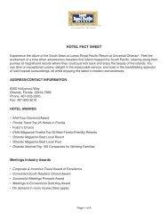 HOTEL FACT SHEET - Universal Orlando Resort Media Site