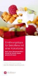 Ernährungshinweise Kolostomie - Hollister Incorporated