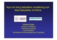 Nya rön kring fettcellers omsättning och dess ... - Obesitasdagar