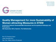 Quality Management for more Sustainability of ... - genderandSTEM