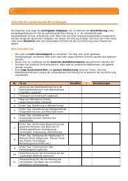 Checklist für aufnehmende Einrichtungen - Pro Mobility