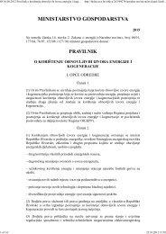 Pravilnik o korištenju obnovljivh izvora i kogeneracije