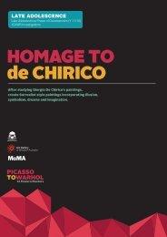 HOMAGE TO de CHIRICO