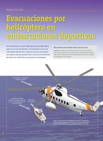 Evacuaciones con helicóptero en embarcaciones deportivas