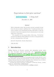 Expectations in first-price auctions - Oliver Kirchkamp