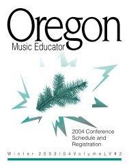 Winter - Oregon Music Education Association