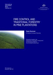 fire control and traditional forestry in pine plantations - International ...