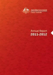 Annual Report - Cancer Australia