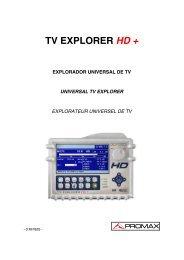TV EXPLORER HD+ manual - Promax