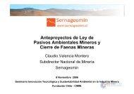 Anteproyectos de Ley de Pasivos Ambientales Mineros y Cierre de ...