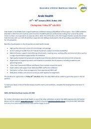 ABHI Arab Health Shell Scheme Application Form 2014