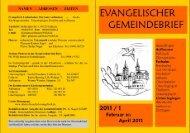 Februar-April 2011 - Evang.-Luth. Kirchengemeinde Unterringingen