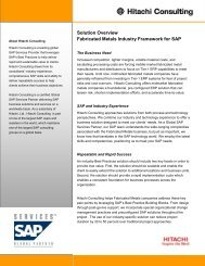 Solution Overview Fabricated Metals Industry Framework for SAP
