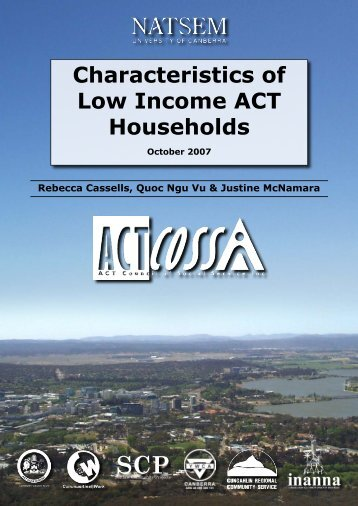 Characteristics of Low Income ACT Households - ACT Council of ...