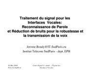 Interfaces Vocales - Www-cours.it-sudparis.eu