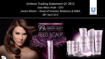 Unilever Trading Statement Q1 2012