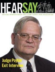 Judge Poyfair's Exit Interview - Clark County Bar Association
