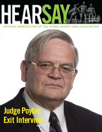Judge Poyfair's Exit Interview - Clark County <b>Bar Association</b> - judge-poyfairs-exit-interview-clark-county-bar-association