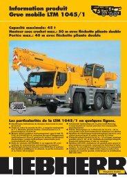Information produit Grue mobile LTM 1045/1 Capacité maximale: 45 ...