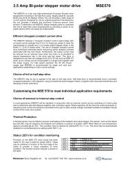 MSE570 datasheet - Mclennan Servo Supplies Ltd.