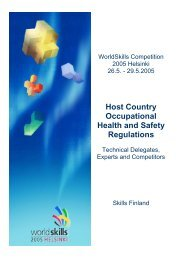 Host Country Occupational Health and Safety Regulations
