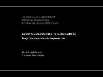 sistema de cenografia virtual para espetáculos de dança ... - Visgraf