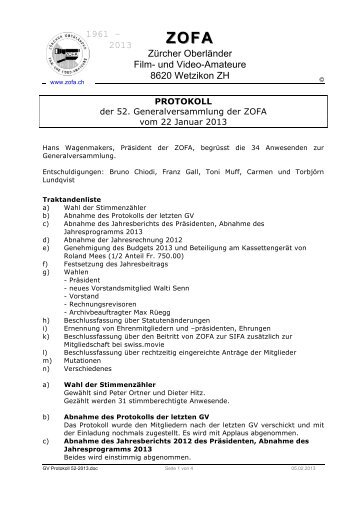 GV Protokoll 52-2013 - ZOFA
