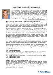 OKTOBER 2013 ÖSTERBOTTEN - Folkhälsan