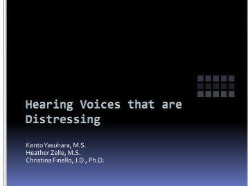 Implementing Hearing Voices that are Distressing