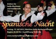 Spanische Nacht - Volkstanz Neckartailfingen