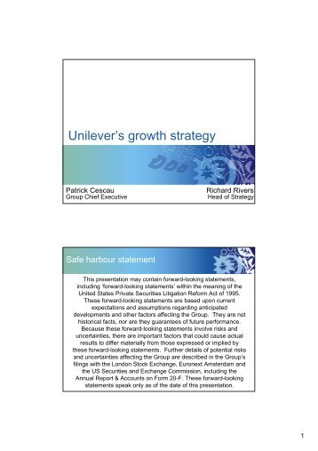 unilever path to growth strategy ii essay Our learning programs help organizations accelerate growth by unlocking their people's potential february 2018 – if you internalize the real odds of strategy.