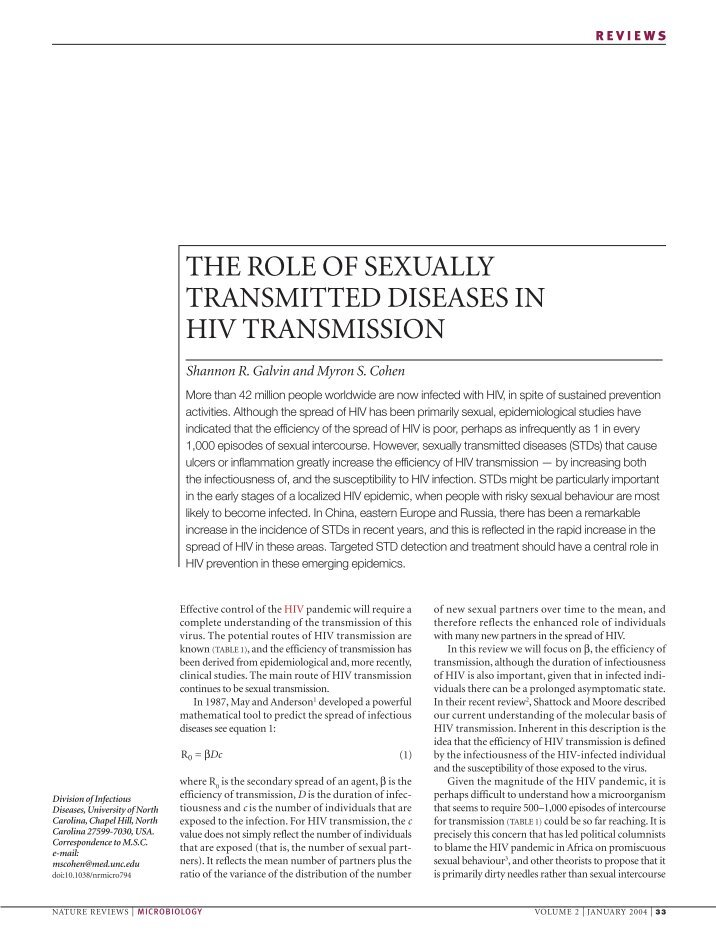 the problem of sexually transmitted diseases in the united states with the example of chlamydia Sexually transmitted diseases (stds) remain a major public health challenge in the united states cdc estimates that there are approximately 19 million new std infections each year click image to enlarge chlamydia remains the most commonly reported infectious disease in the united states.
