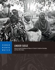 UNDER SIEGE - Human Rights Watch