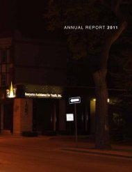 ANNUAL REPORT 2011 - Resource Assistance for Youth