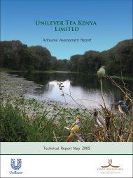 Unilever Tea Kenya Limited - Rainforest Alliance